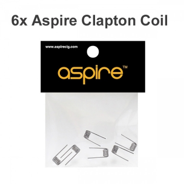 6pc Aspire Clapton Prebuilt Coil