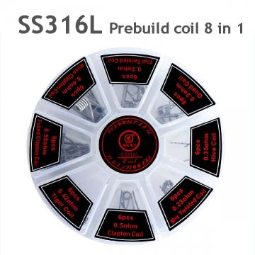 SS316L Prebuild coil 8 in 1