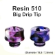 Drip Tip Resin Big Diameter 510