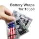 5x Battery Wrap 18650