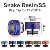 Snake Resin/SS Drip Tip TFV8/810