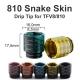 810 Snake Skin Driptip TFV8/810