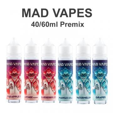 Premixed Liquid Mad Vapes 40/60ml