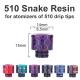 Drip Tip Snake Resin 510