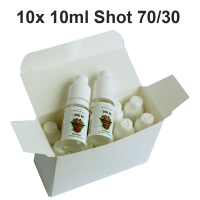 10 x Nicotine Shot 10ml 70/30