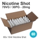 60x Nicotine Shot 70/30-20mg 10ml